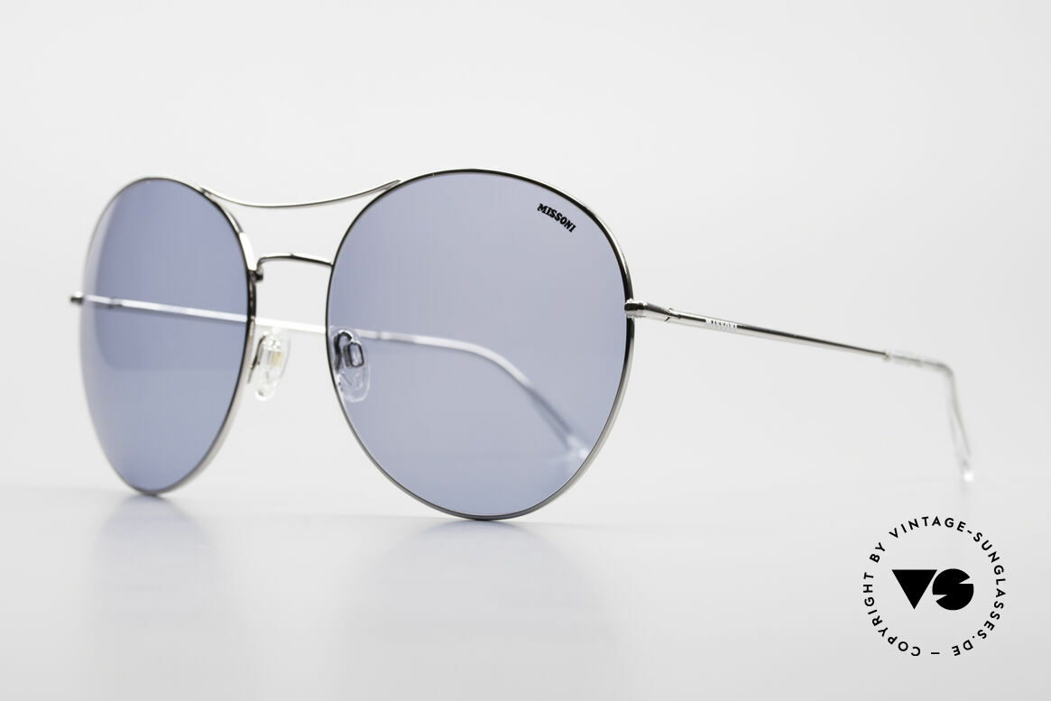 Missoni 0440 Huge XXL Aviator Sunglasses, true eye-catcher; top comfort thanks to spring hinges, Made for Men and Women