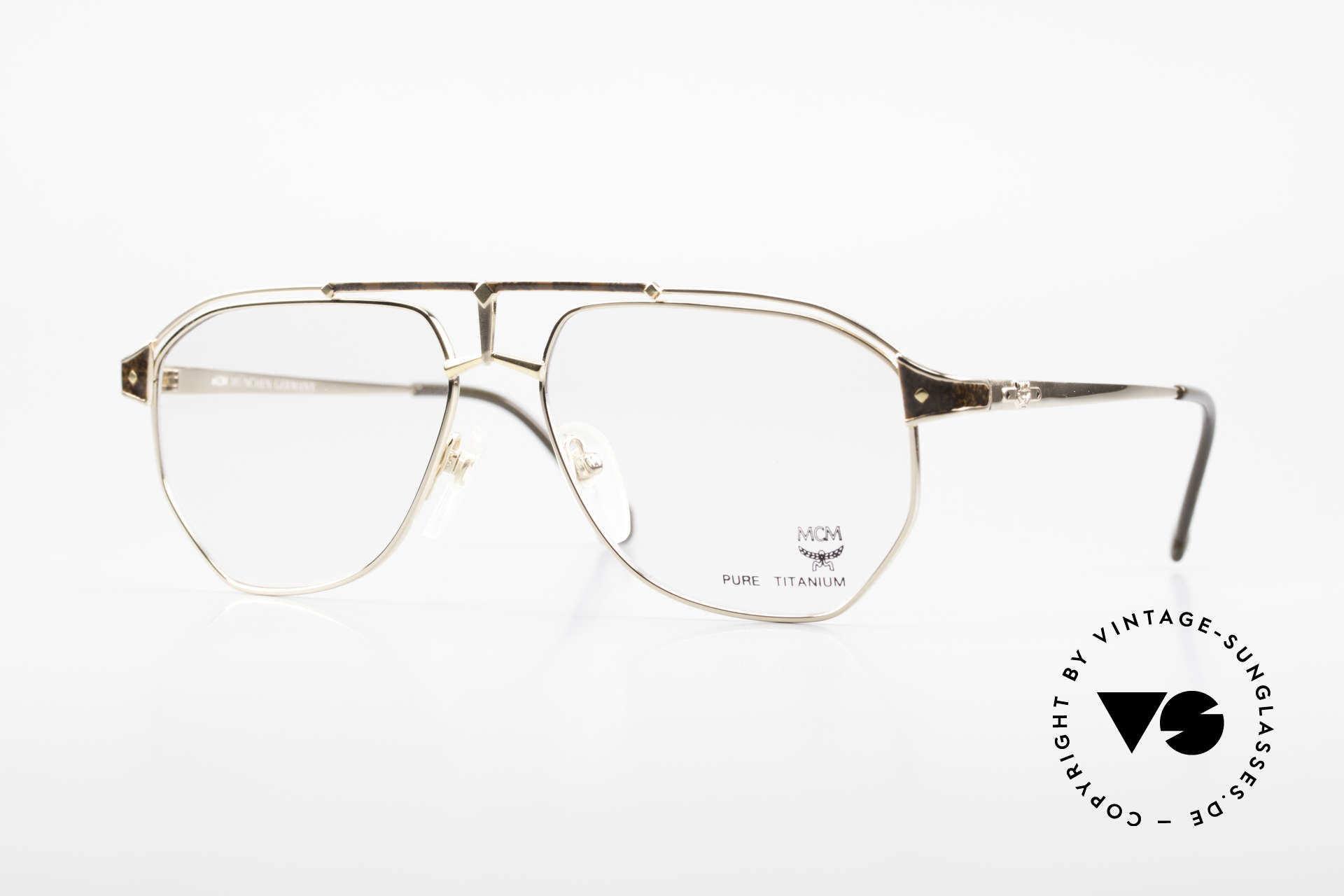 MCM München 6 XL 90's Luxury Vintage Glasses, extra large designer glasses by MCM of the early 90's, Made for Men