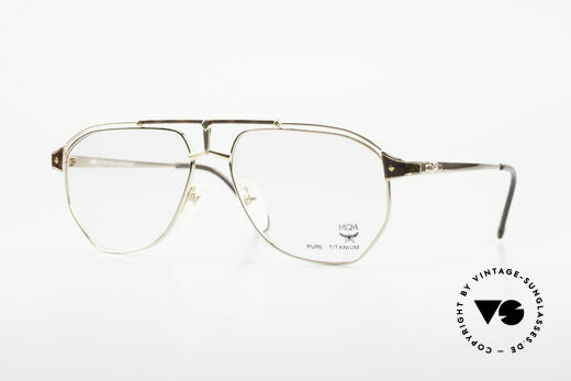 MCM München 6 XL 90's Luxury Vintage Glasses Details