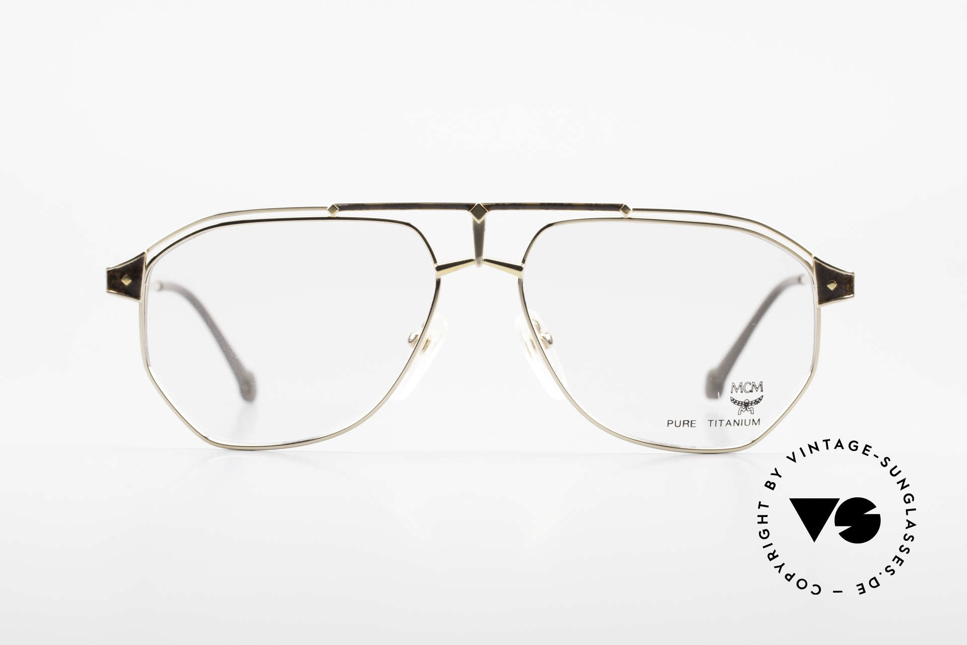 MCM München 6 XL 90's Luxury Vintage Glasses, modified aviator design (150mm frame width) = XXL, Made for Men