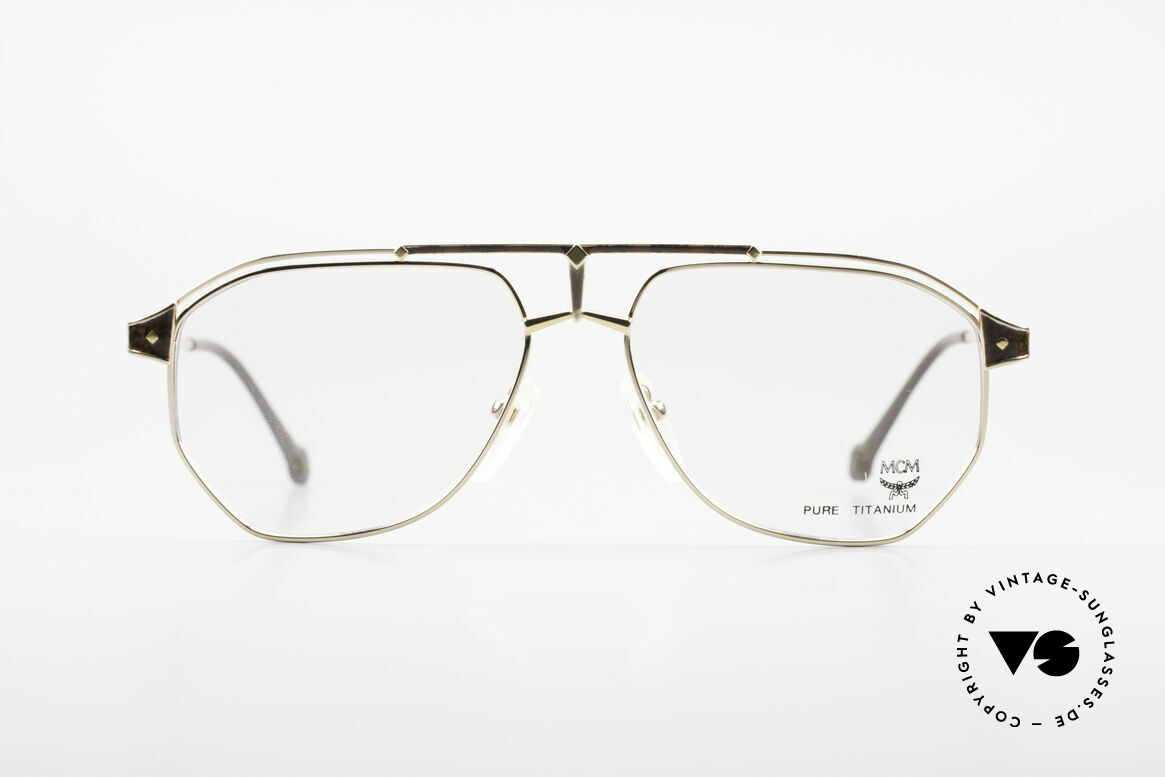 MCM München 6 XL 90's Luxury Vintage Glasses, modified aviator design (150mm frame width) = XXL, Made for Men