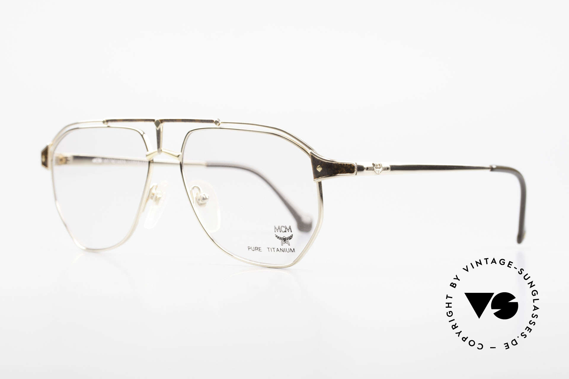 MCM München 6 XL 90's Luxury Vintage Glasses, but still lightweight and comfortable (Pure Titanium), Made for Men
