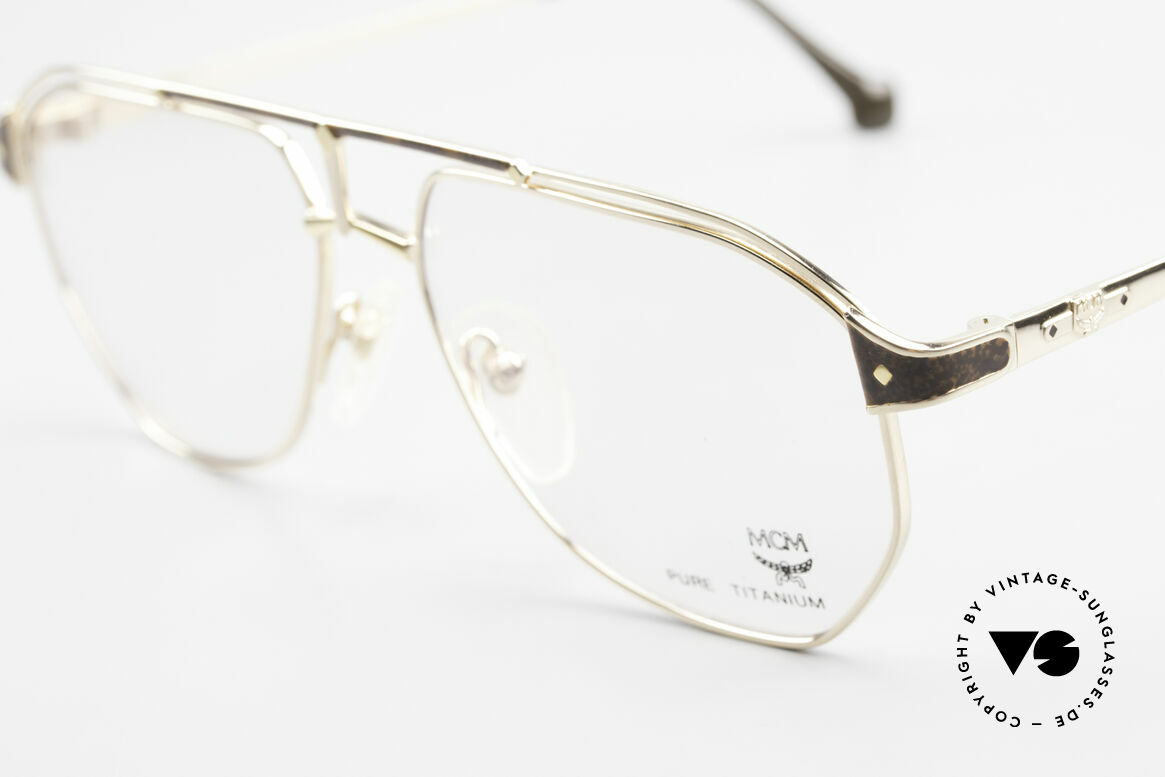 MCM München 6 XL 90's Luxury Vintage Glasses, precious frame with serial number & 1st class quality, Made for Men