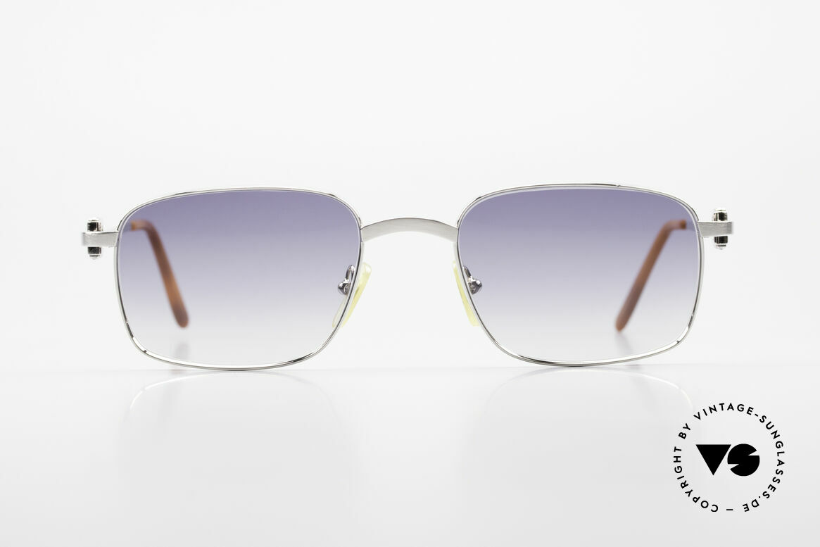 Cartier Temper Luxury Frame With Chanel Case, rare CARTIER vintage luxury sunglasses from 1999, Made for Men