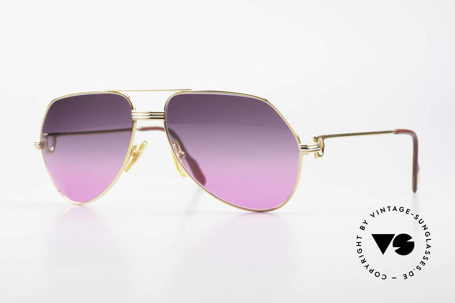 Cartier Vendome LC - M 80's Sunglasses Aviator Luxury, Cartier Vendome vintage glasses, famous aviator style, Made for Men and Women