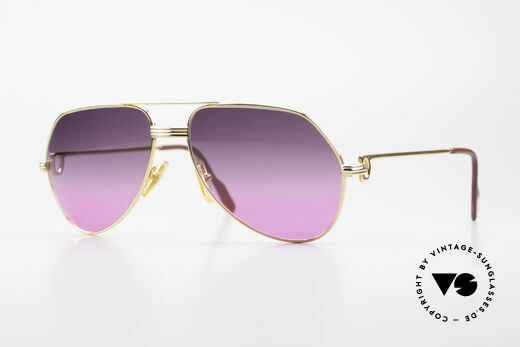 Cartier Vendome LC - M 80's Sunglasses Aviator Luxury Details