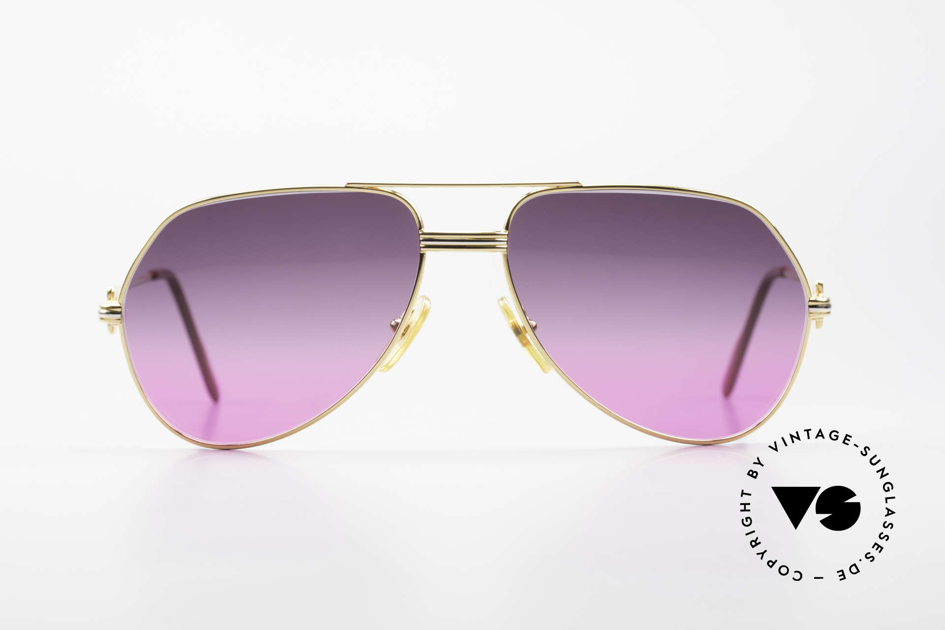 """Cartier Vendome LC - M 80's Sunglasses Aviator Luxury, mod. """"Vendome"""" was launched in 1983 & made till 1997, Made for Men and Women"""