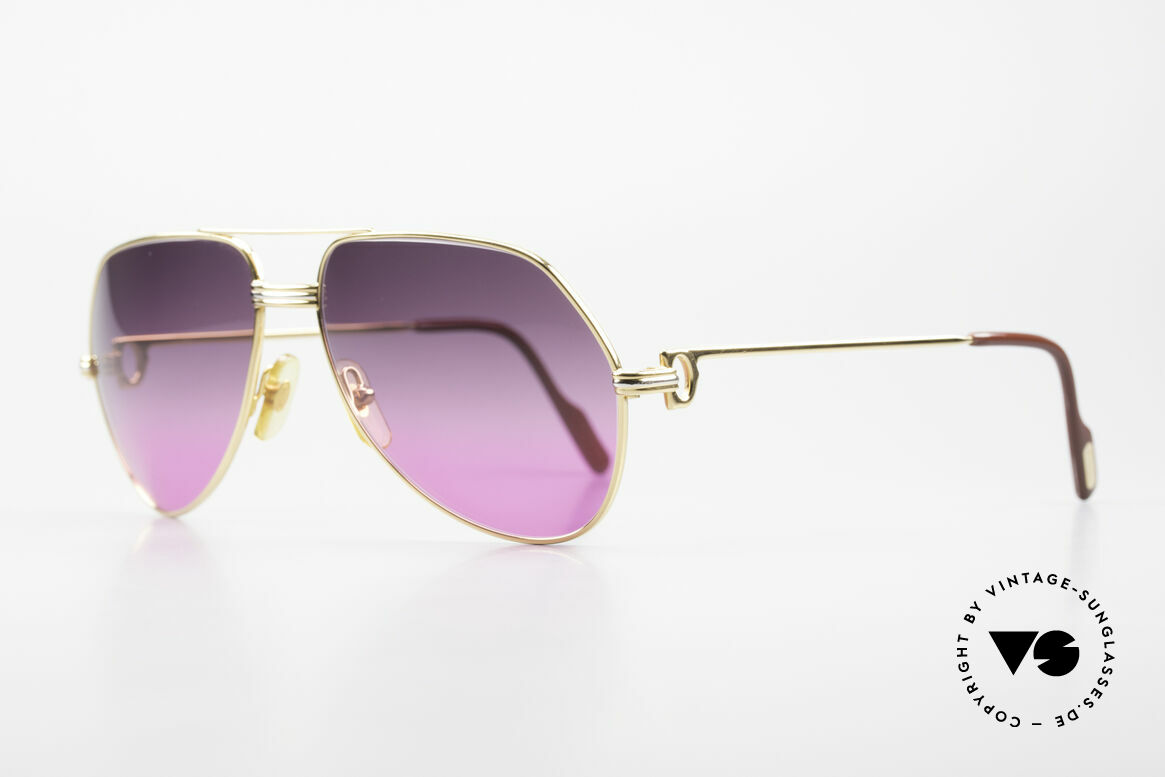 Cartier Vendome LC - M 80's Sunglasses Aviator Luxury, this pair (with L.Cartier decor): medium size 59-16, 140, Made for Men and Women