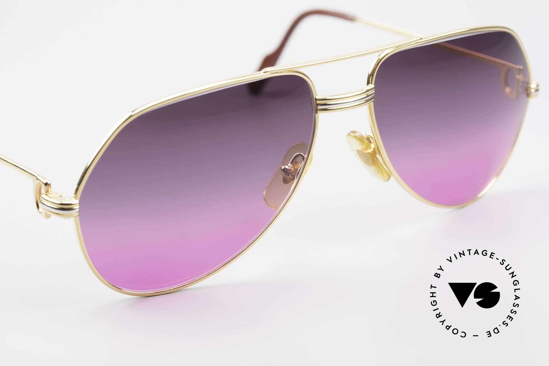 Cartier Vendome LC - M 80's Sunglasses Aviator Luxury, 2nd hand model, but in mint condition with Cartier box, Made for Men and Women