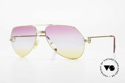 Cartier Vendome LC - M 80's 90's Aviator Sunglasses Details