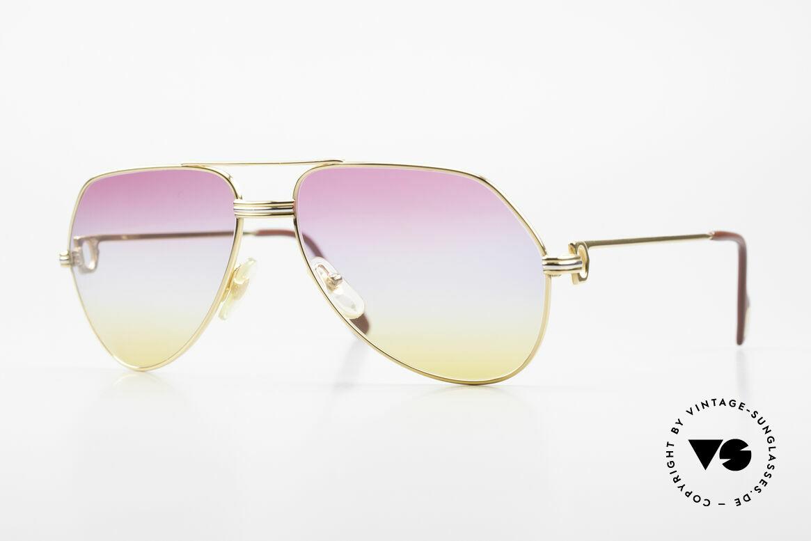 Cartier Vendome LC - M 80's 90's Aviator Sunglasses, Cartier Vendome Aviator sunglasses from the 80's/90's, Made for Men and Women