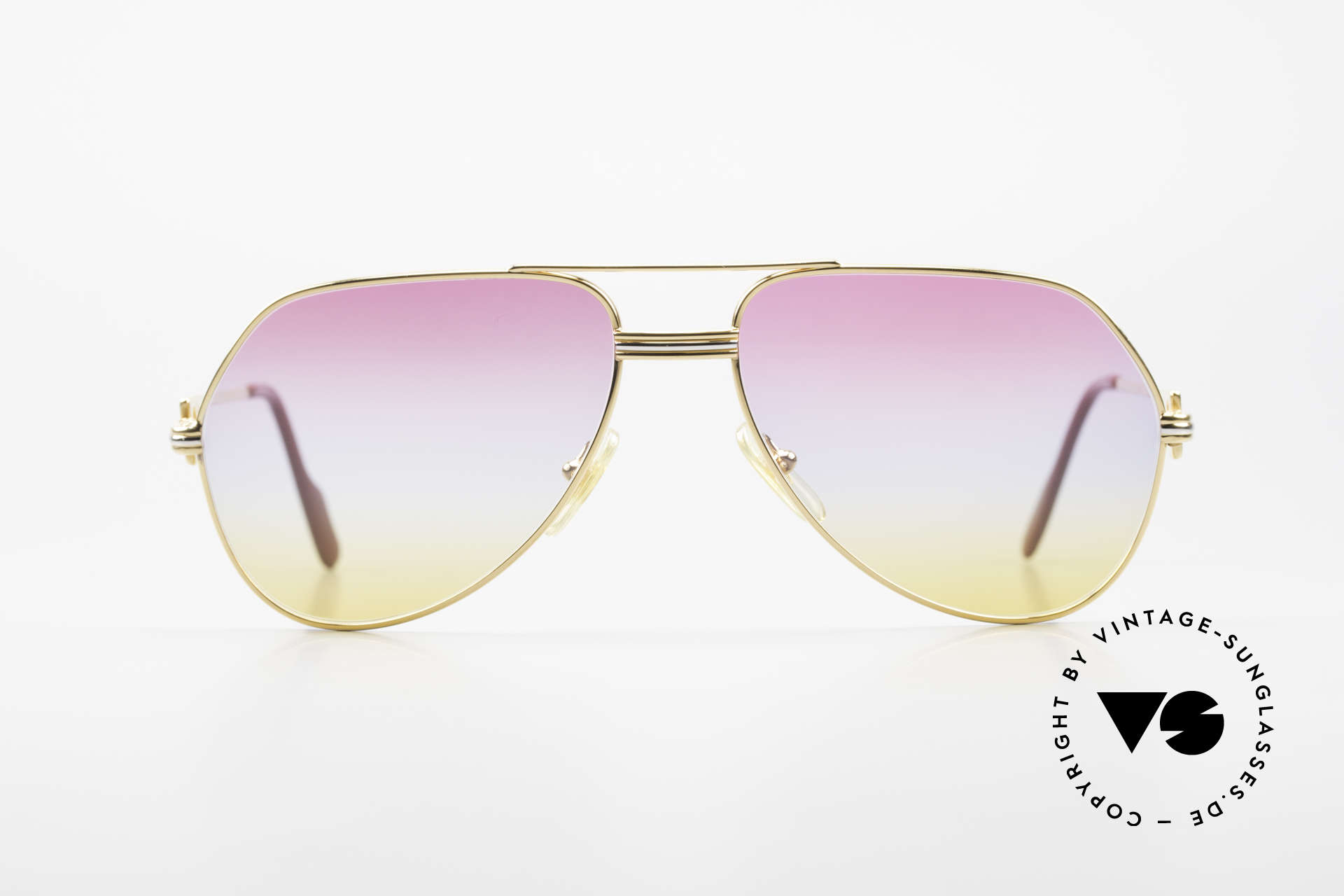 """Cartier Vendome LC - M 80's 90's Aviator Sunglasses, mod. """"Vendome"""" was launched in 1983 & made till 1997, Made for Men and Women"""