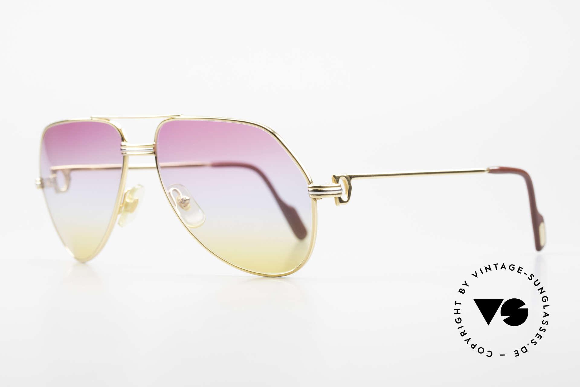 Cartier Vendome LC - M 80's 90's Aviator Sunglasses, here, Louis Cartier (LC) decor: medium size 59-16, 140, Made for Men and Women