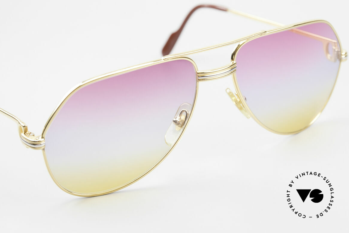 Cartier Vendome LC - M 80's 90's Aviator Sunglasses, 2. hand model, but in mint condition + orig. Cartier box, Made for Men and Women