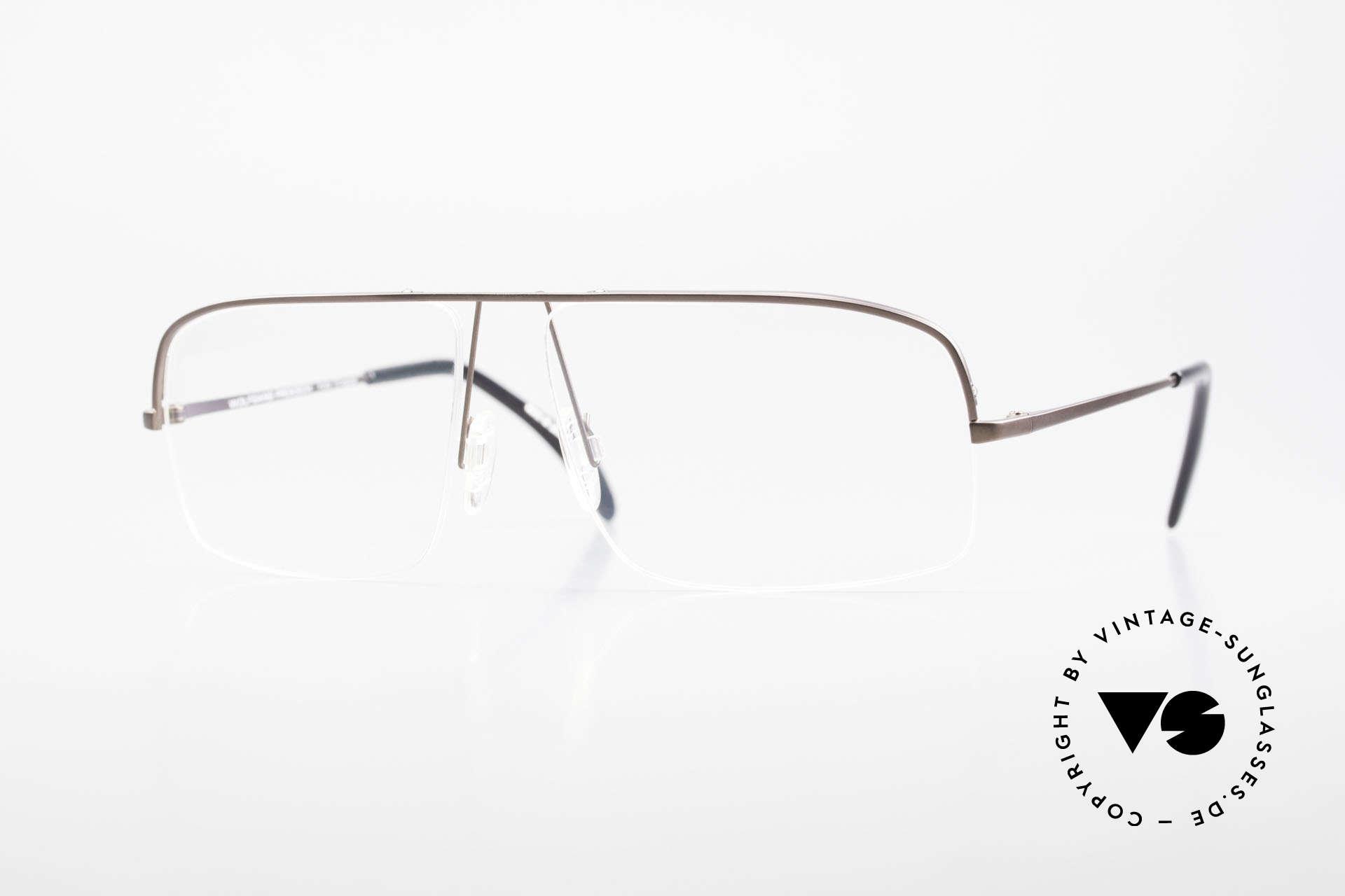 Wolfgang Proksch WP0103 New Tear Drop Titanium Frame, Wolfgang Proksch VINTAGE eyeglasses from 1999, Made for Men
