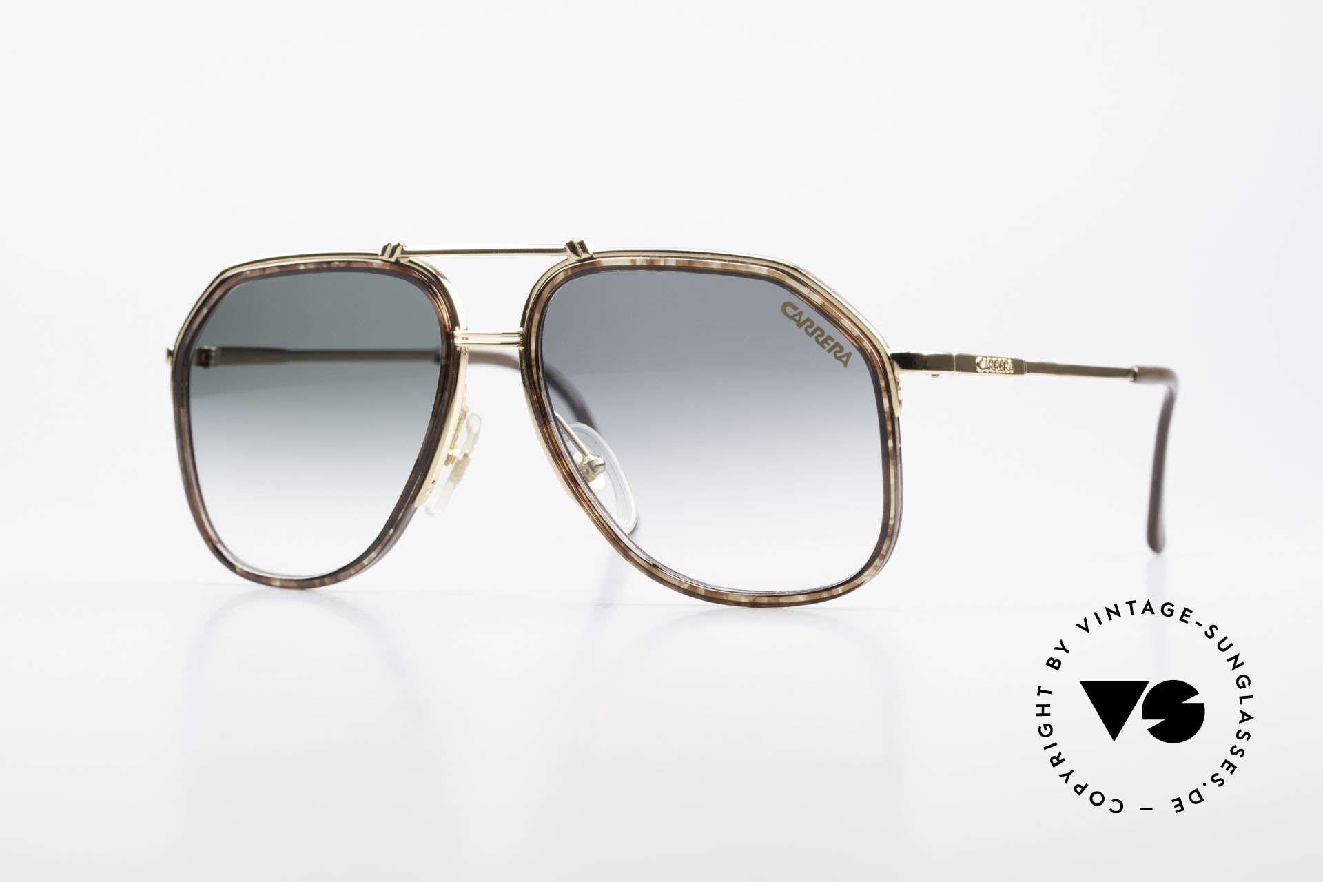 Carrera 5370 Classic Vintage Sunglasses, noble vintage 1990's designer glasses by Carrera, Made for Men