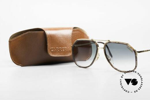 Carrera 5370 Classic Vintage Sunglasses, green-gradient Carrera lenses (100% UV protection), Made for Men