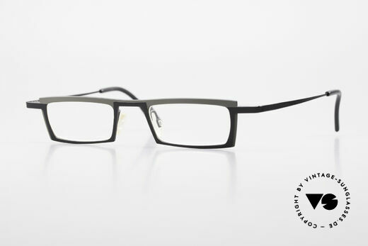 Theo Belgium Langdon Square Titanium Glasses Men Details
