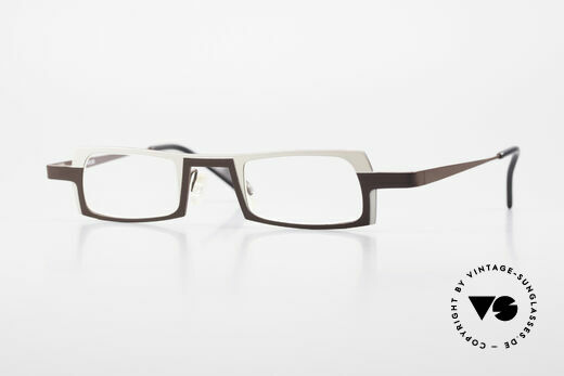 Theo Belgium Wimsey Square Men's Glasses Titanium Details