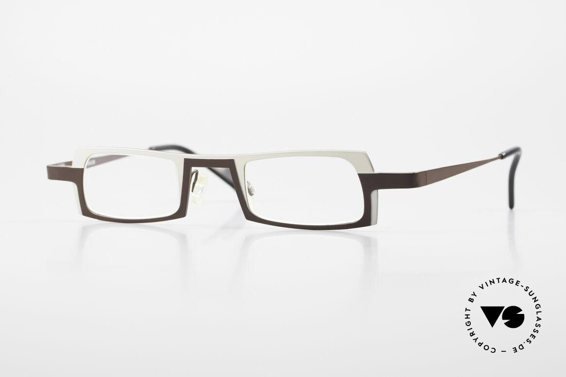 Theo Belgium Wimsey Square Men's Glasses Titanium, square men's reading eyeglasses by THEO BELGIUM, Made for Men