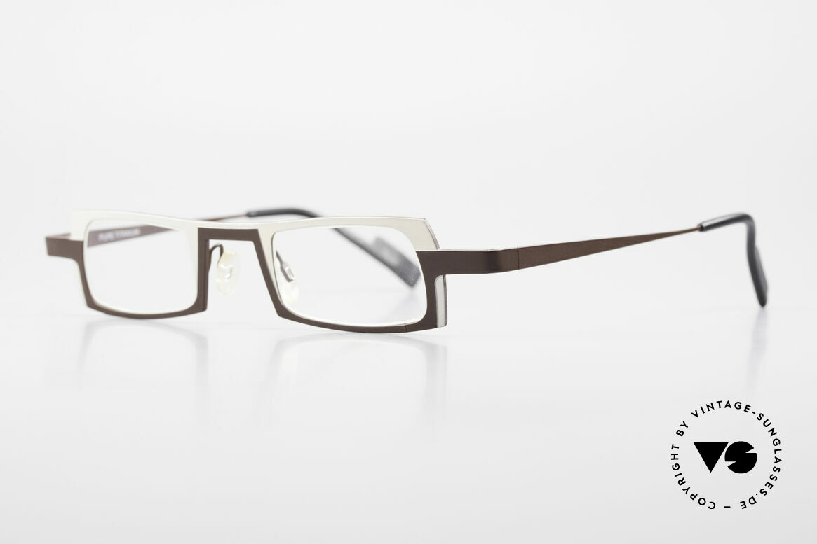 Theo Belgium Wimsey Square Men's Glasses Titanium, lightweight & very comfortable, pure TITANIUM frame, Made for Men