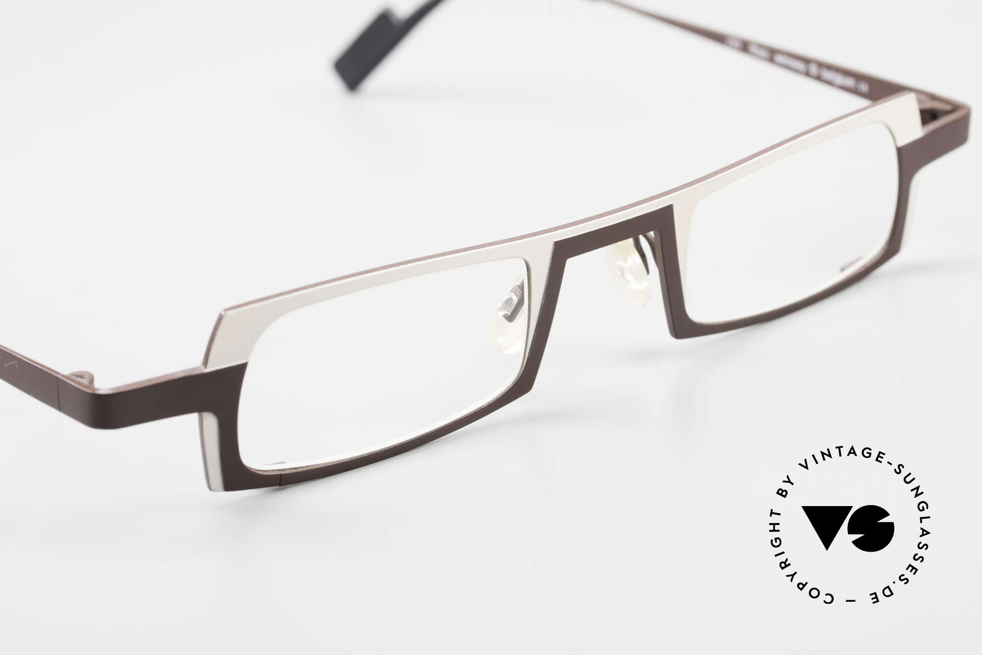 Theo Belgium Wimsey Square Men's Glasses Titanium, the DEMO lenses should be replaced with prescriptions, Made for Men