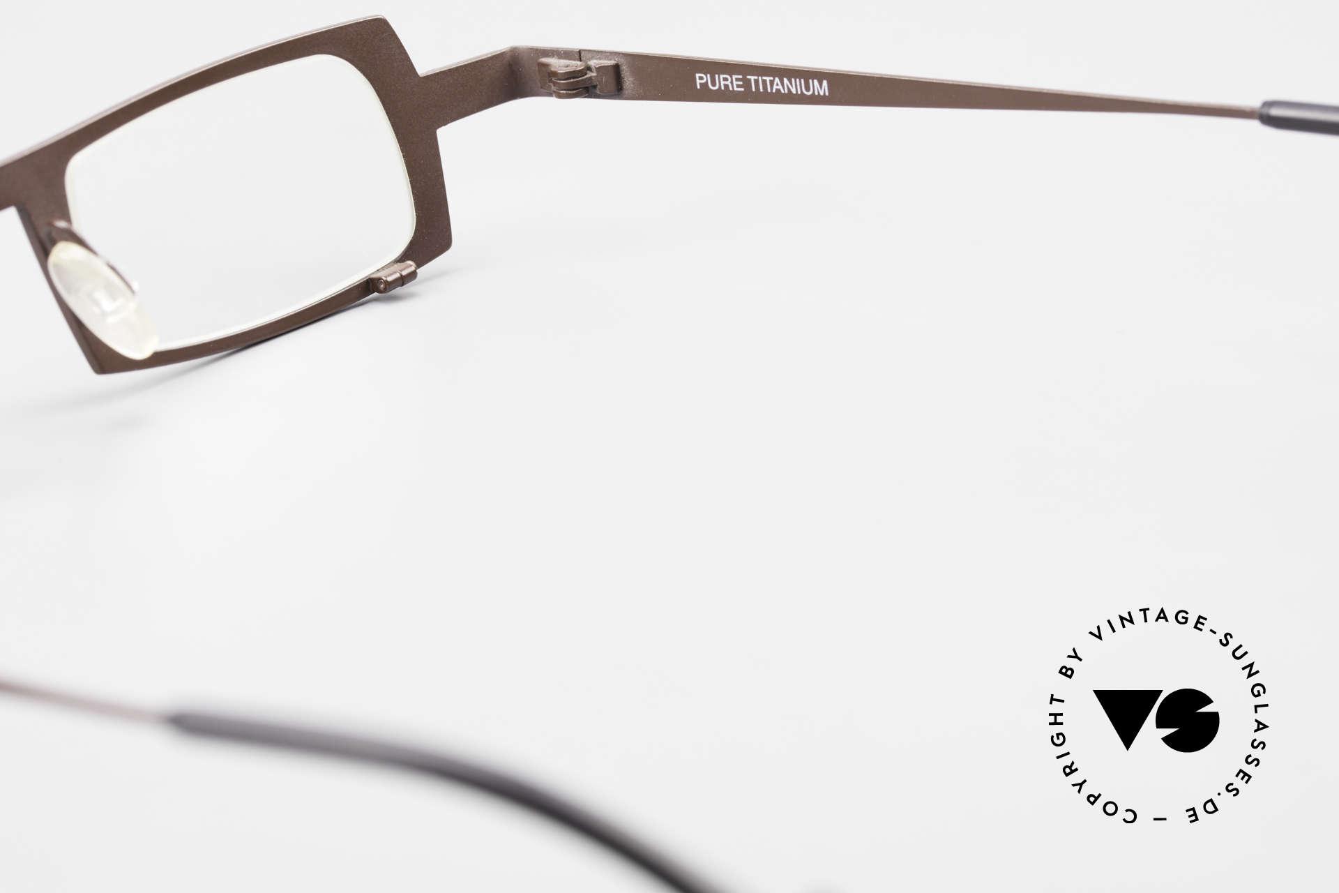 Theo Belgium Wimsey Square Men's Glasses Titanium, Size: large, Made for Men