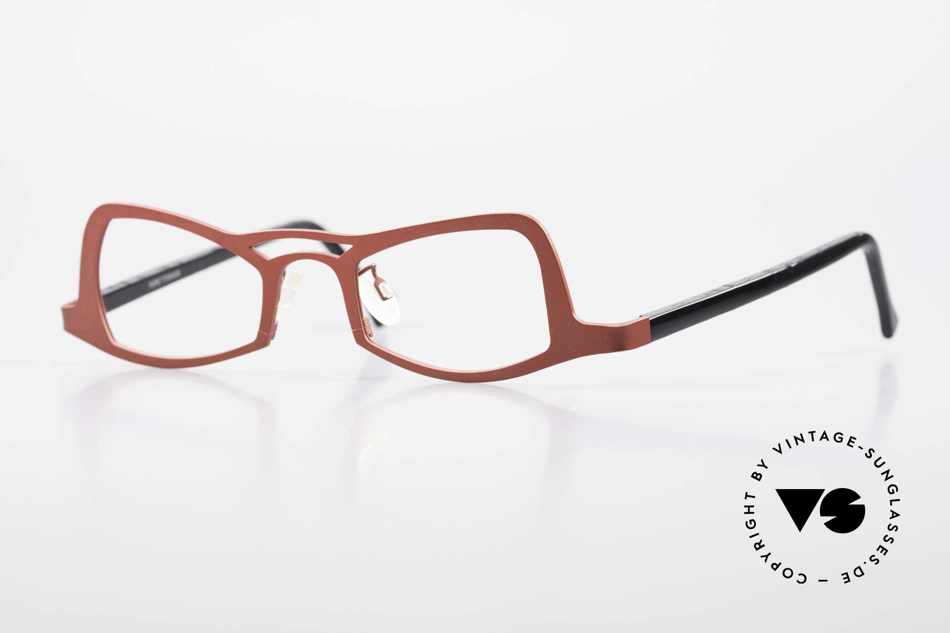 Theo Belgium Eye-Witness JK Pure Titanium Ladies Glasses, crazy Theo Belgium glasses of the Eye Witness Series, Made for Women