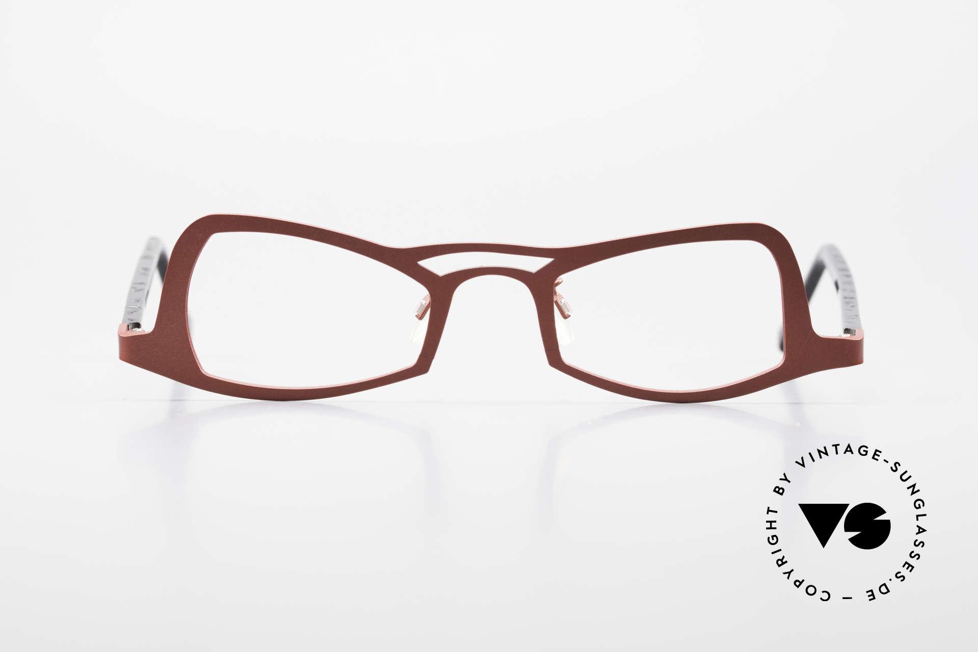 Theo Belgium Eye-Witness JK Pure Titanium Ladies Glasses, enchanting designer frame (late 1990's/ early 2000's), Made for Women