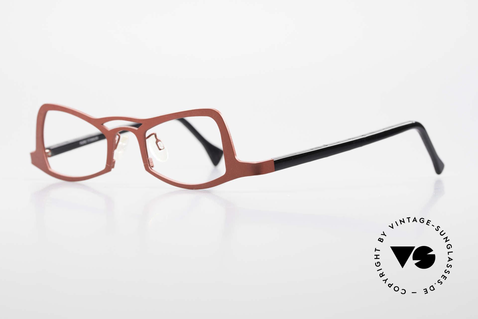 Theo Belgium Eye-Witness JK Pure Titanium Ladies Glasses, spectacular eye-catcher in top quality (pure titanium), Made for Women