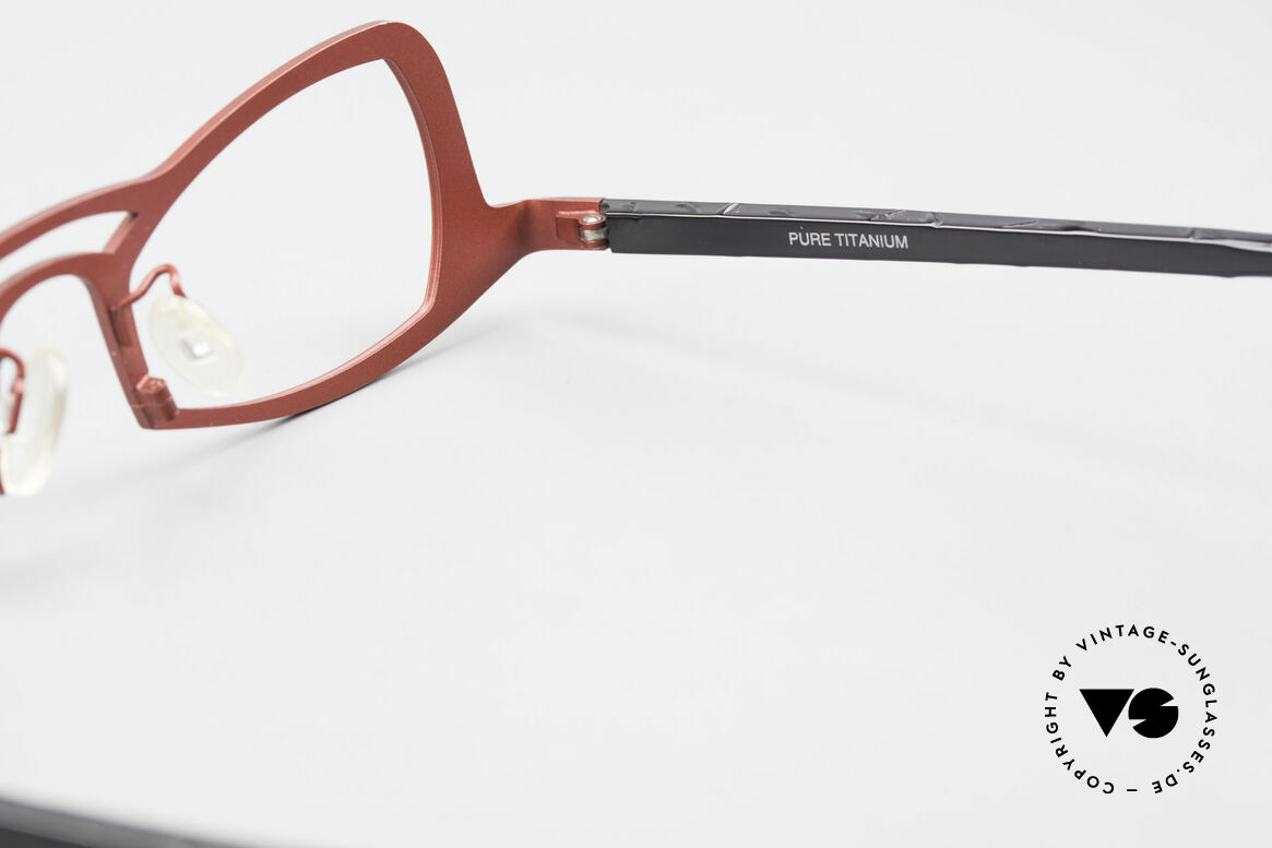 Theo Belgium Eye-Witness JK Pure Titanium Ladies Glasses, Size: medium, Made for Women