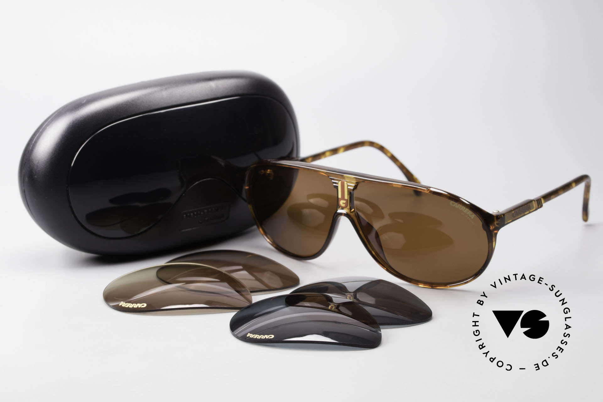 Carrera 5412 80's Frame 3 Sets Of Sun Lenses, NO RETRO SHADES, but an app. 30 years old ORIGINAL!, Made for Men and Women