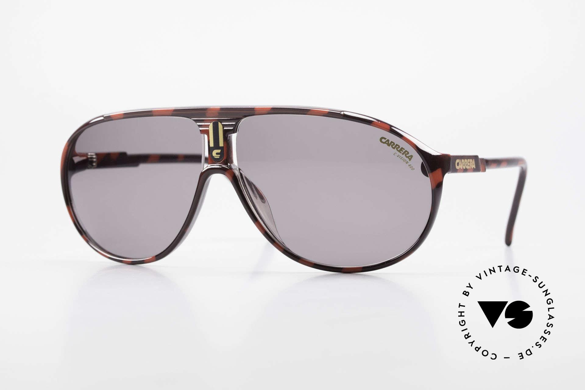 Carrera 5412 80's Sunglasses Optyl Sport, sporty Carrera aviator sunglasses: Collection 1989/1990, Made for Men and Women