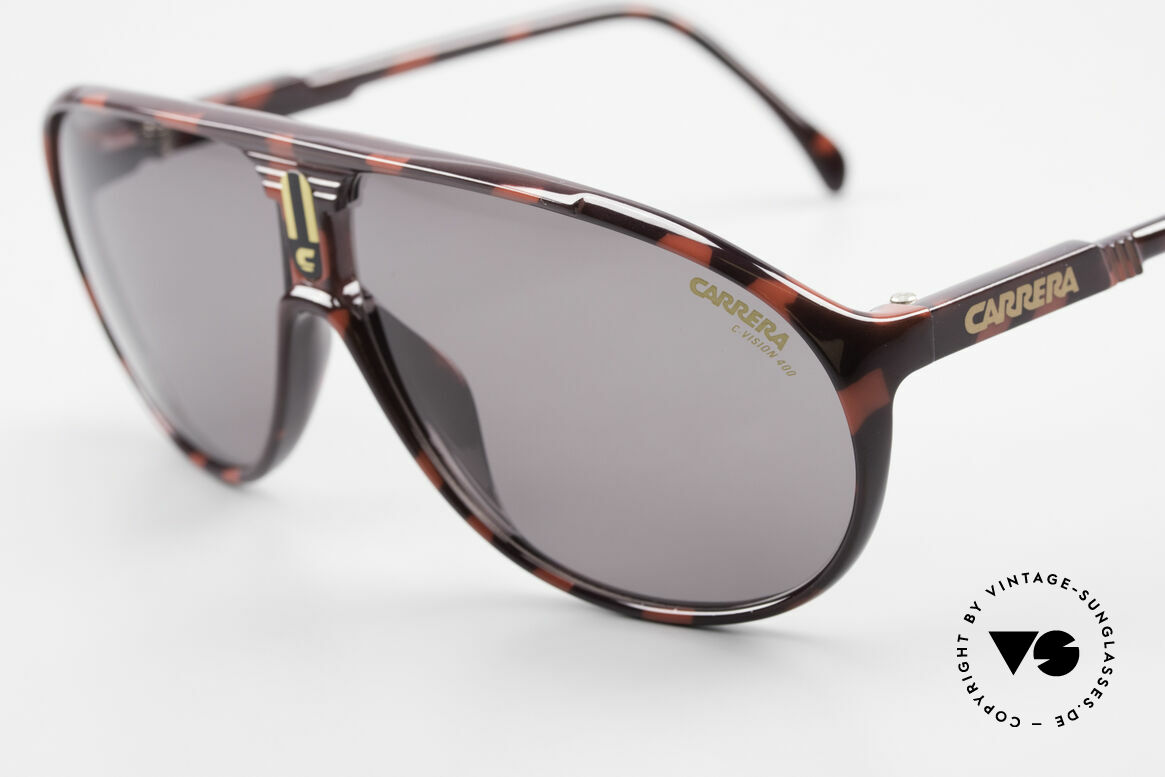 Carrera 5412 80's Sunglasses Optyl Sport, 3 sets of interchangeable lenses for different conditions, Made for Men and Women