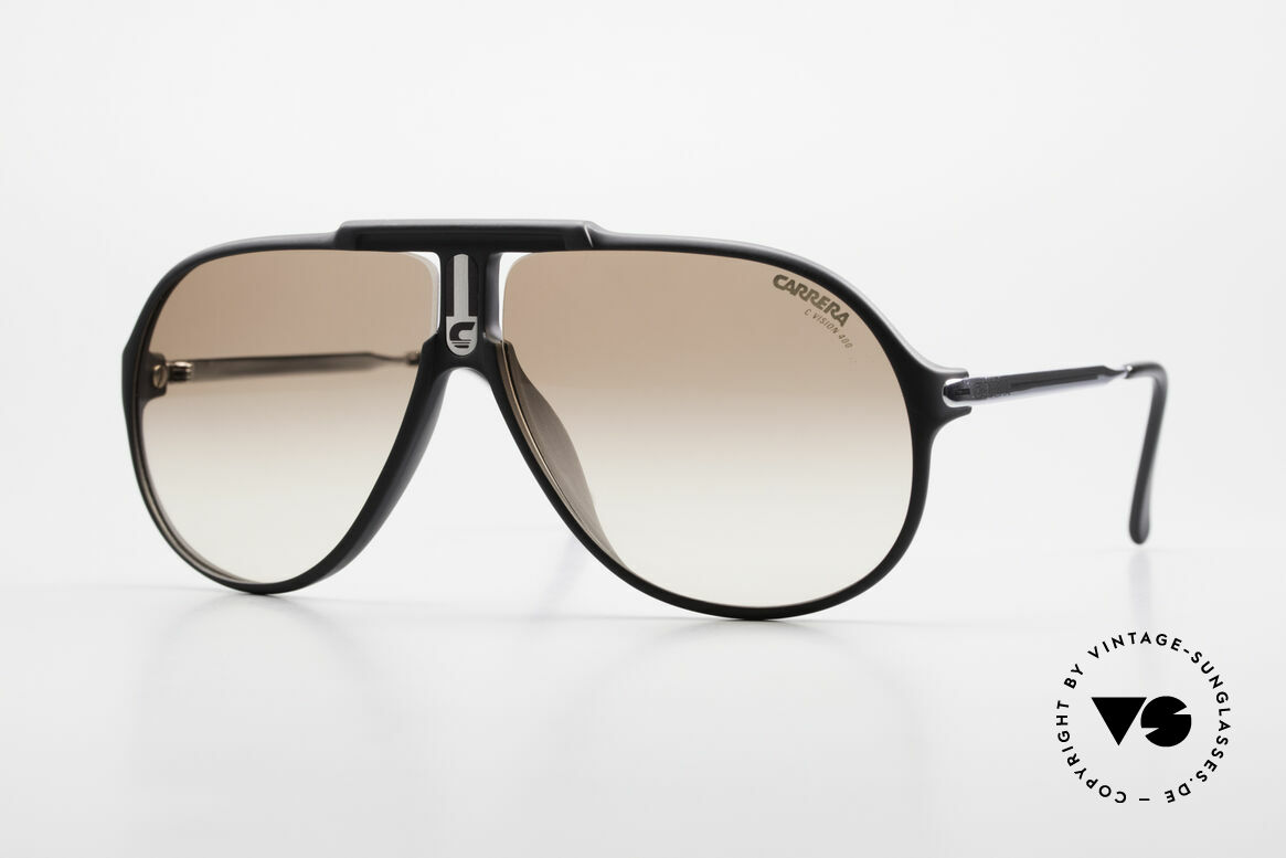 Carrera 5590 Sporty 80's Aviator Sunglasses, old Carrera sunglasses from the Collection 1989/1990, Made for Men