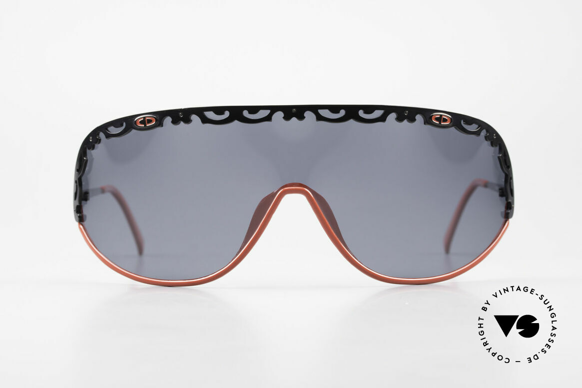 Christian Dior 2501 Polarized Sunglasses 80's 90's, one large, single shade in X-Large size (panorama view), Made for Women
