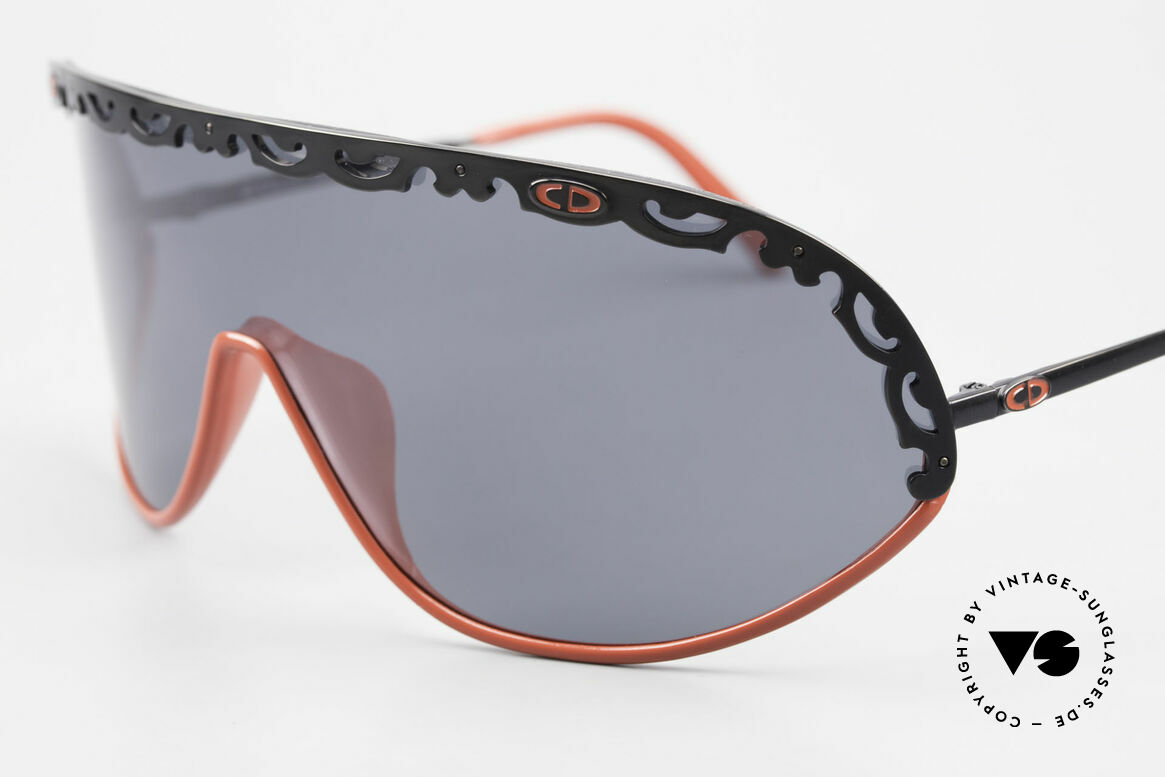 Christian Dior 2501 Polarized Sunglasses 80's 90's, functional designer shades with polarized lens / shield, Made for Women