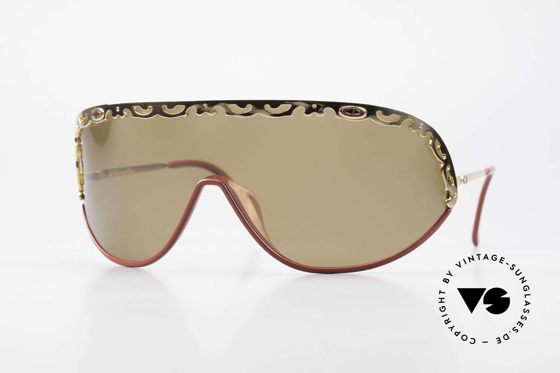 Christian Dior 2501 Panorama View Sunglasses 80's, panorama view Dior designer sunglasses from 1989/1990, Made for Women