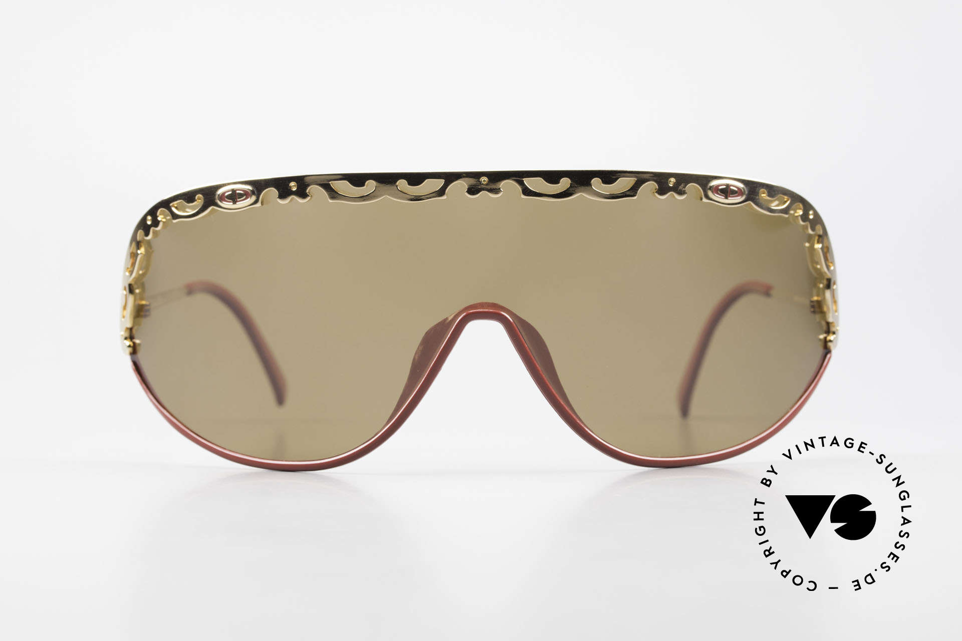 Christian Dior 2501 Panorama View Sunglasses 80's, one large, single shade in X-Large size (vintage shield), Made for Women