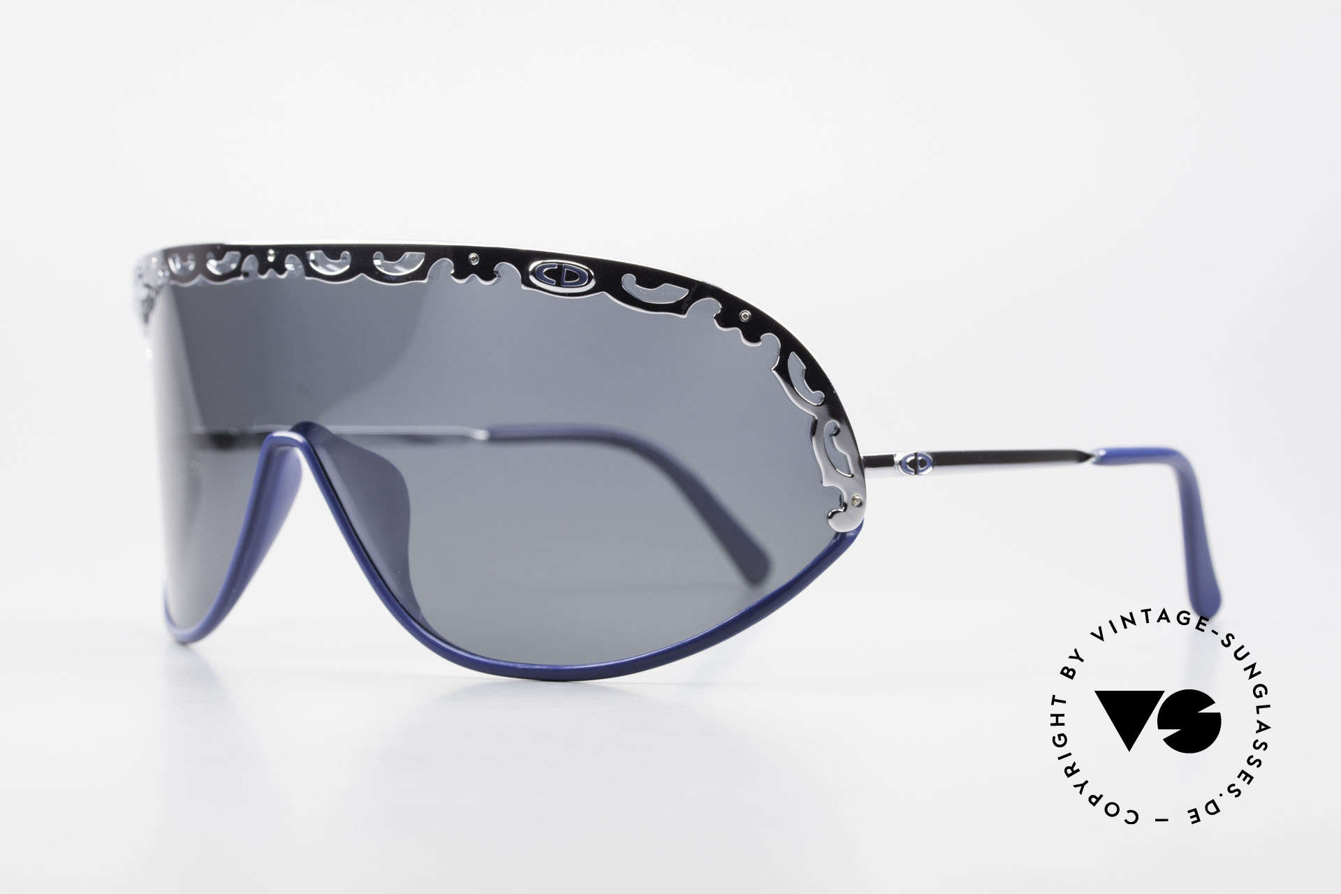 Christian Dior 2501 Panorama View Shades 80s 90s, functional designer shades with polarized lens / shield, Made for Women