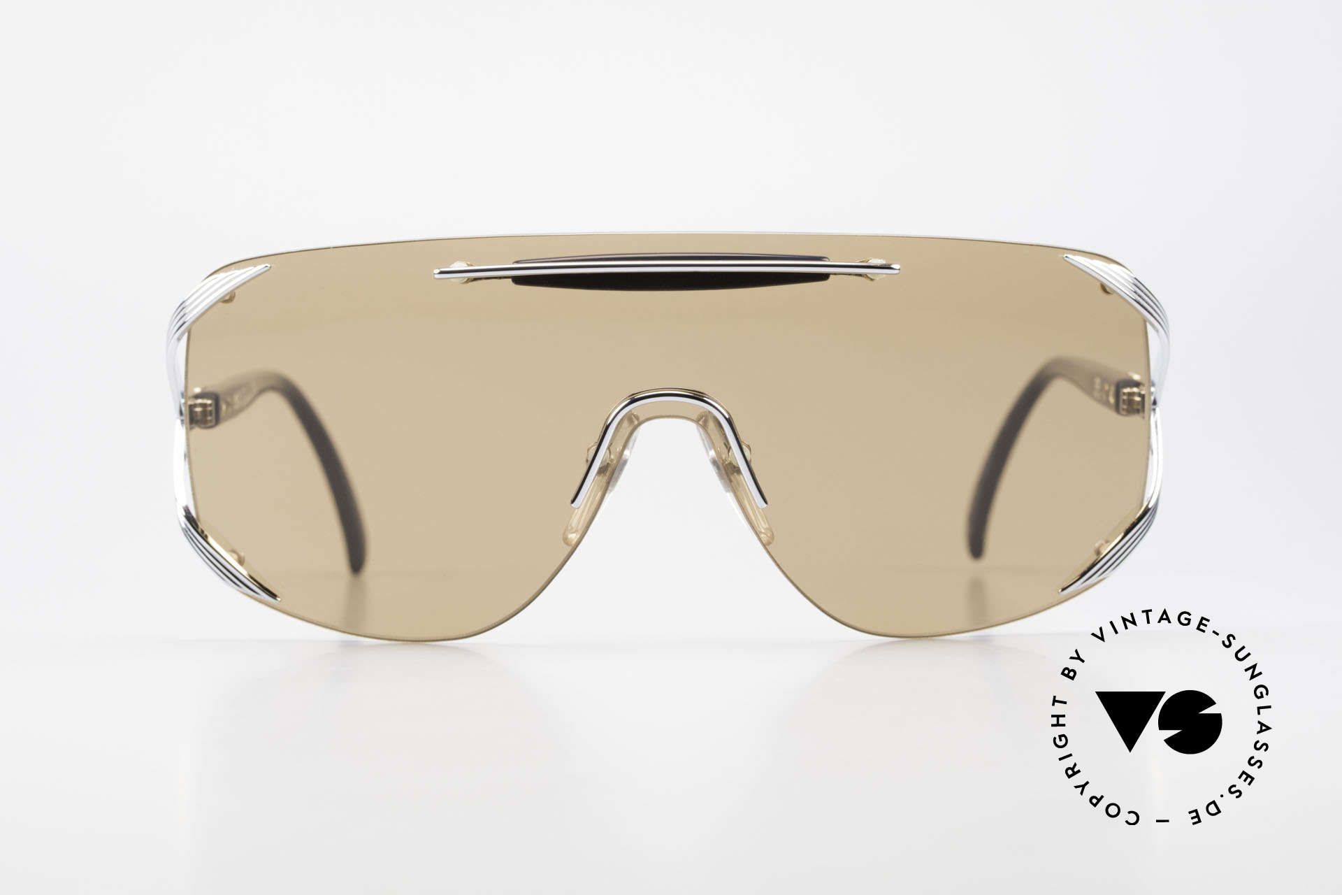 """Christian Dior 2434 Panorama View Sunglasses 80s, single lens (""""shield design"""") for a PANORAMA view, Made for Women"""