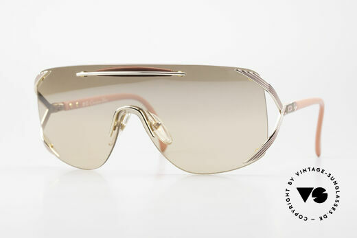 Christian Dior 2434 Light Pink Mirrored Shades 80s Details
