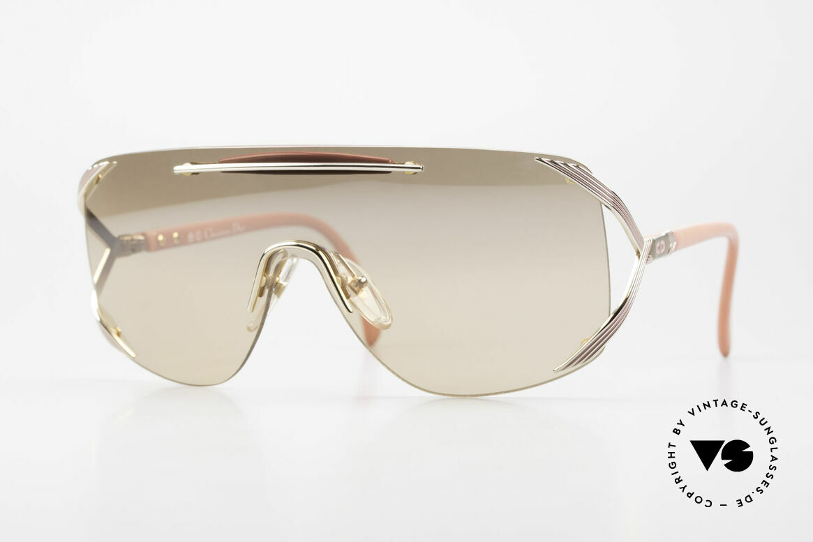 Christian Dior 2434 Light Pink Mirrored Shades 80s, Christian DIOR designer sunglasses from 1989/1990, Made for Women