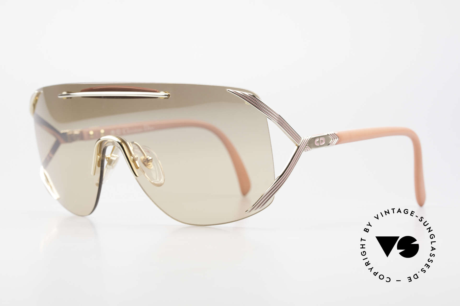 Christian Dior 2434 Light Pink Mirrored Shades 80s, very noble thanks to the light PINK mirrored lens!, Made for Women