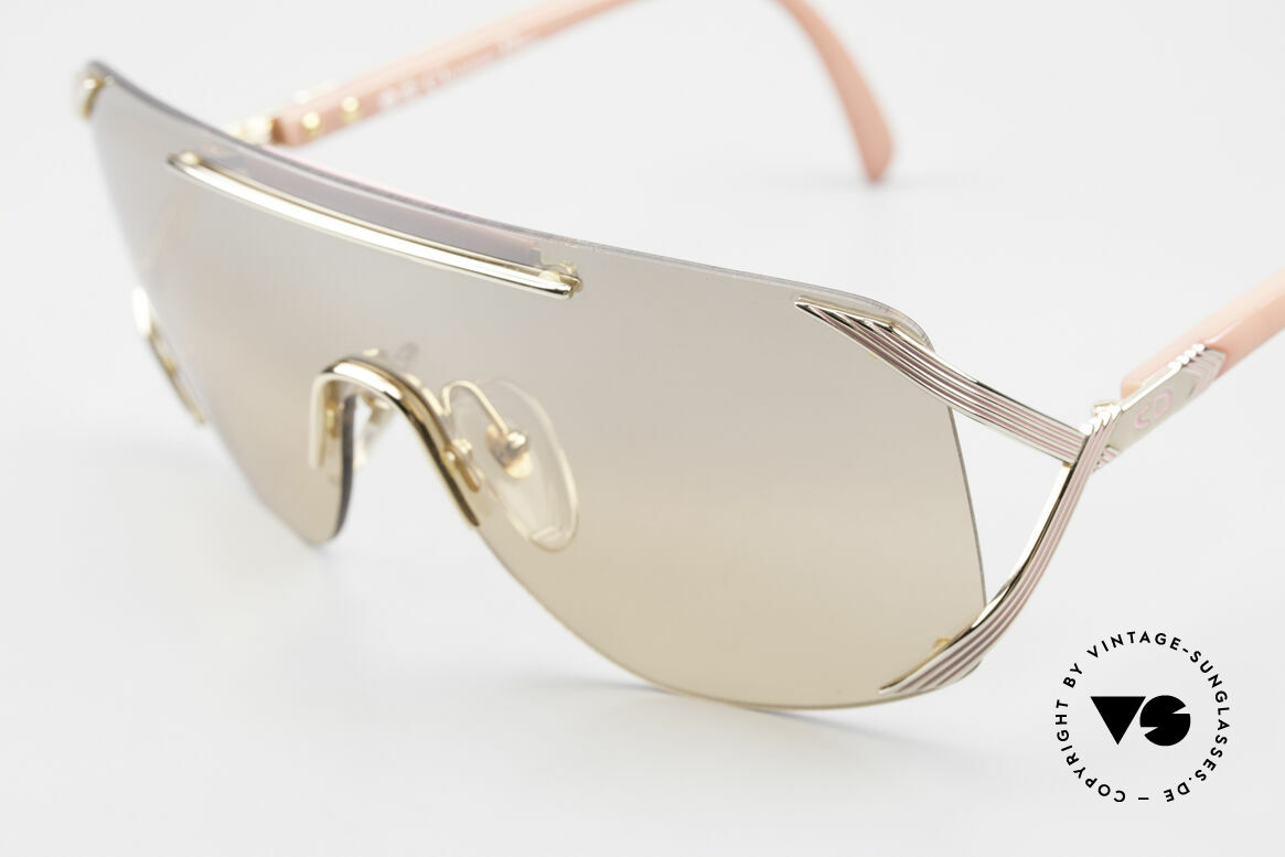 Christian Dior 2434 Light Pink Mirrored Shades 80s, unworn (like all our Chr. DIOR designer sunglasses), Made for Women