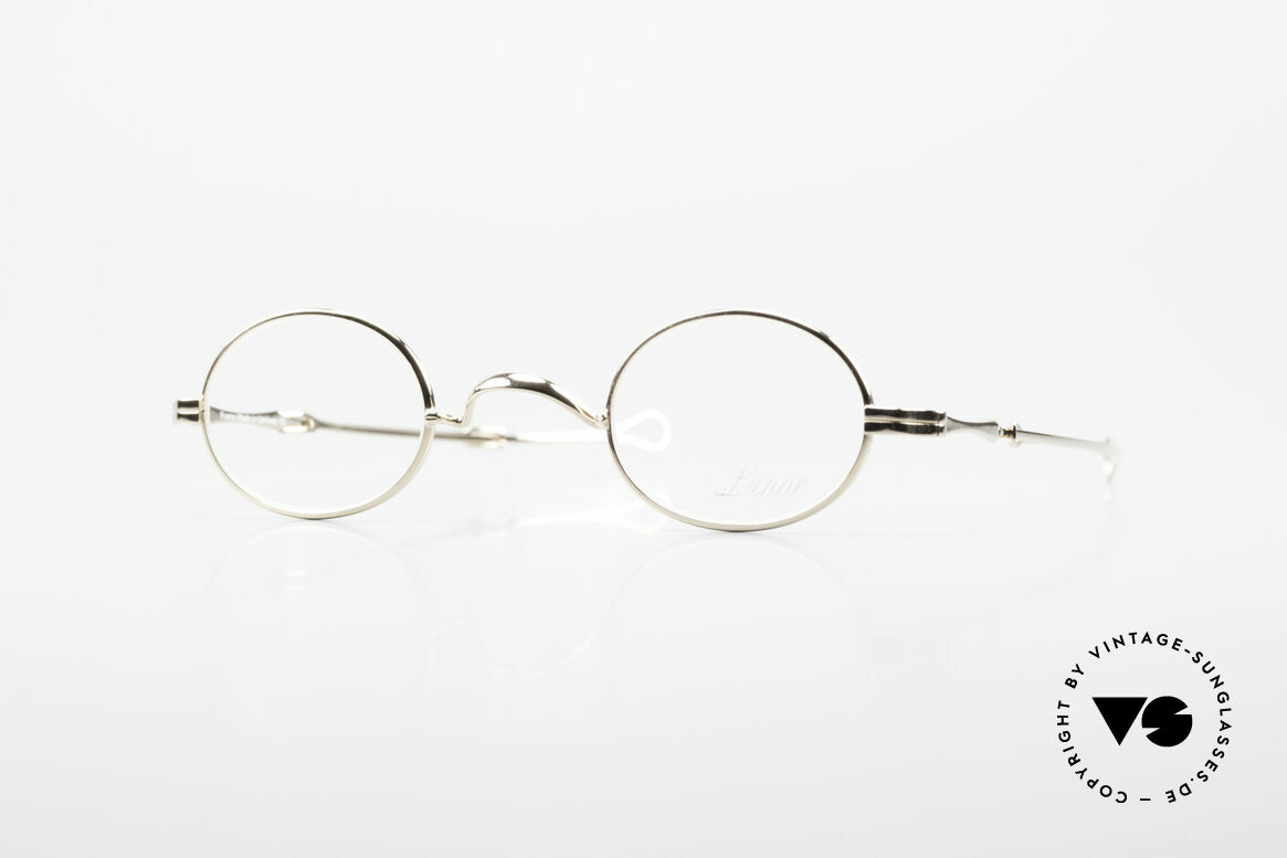 Lunor I 04 Telescopic XS Oval Glasses Slide Temples, very small oval Lunor frame with telescopic slide temple, Made for Men and Women