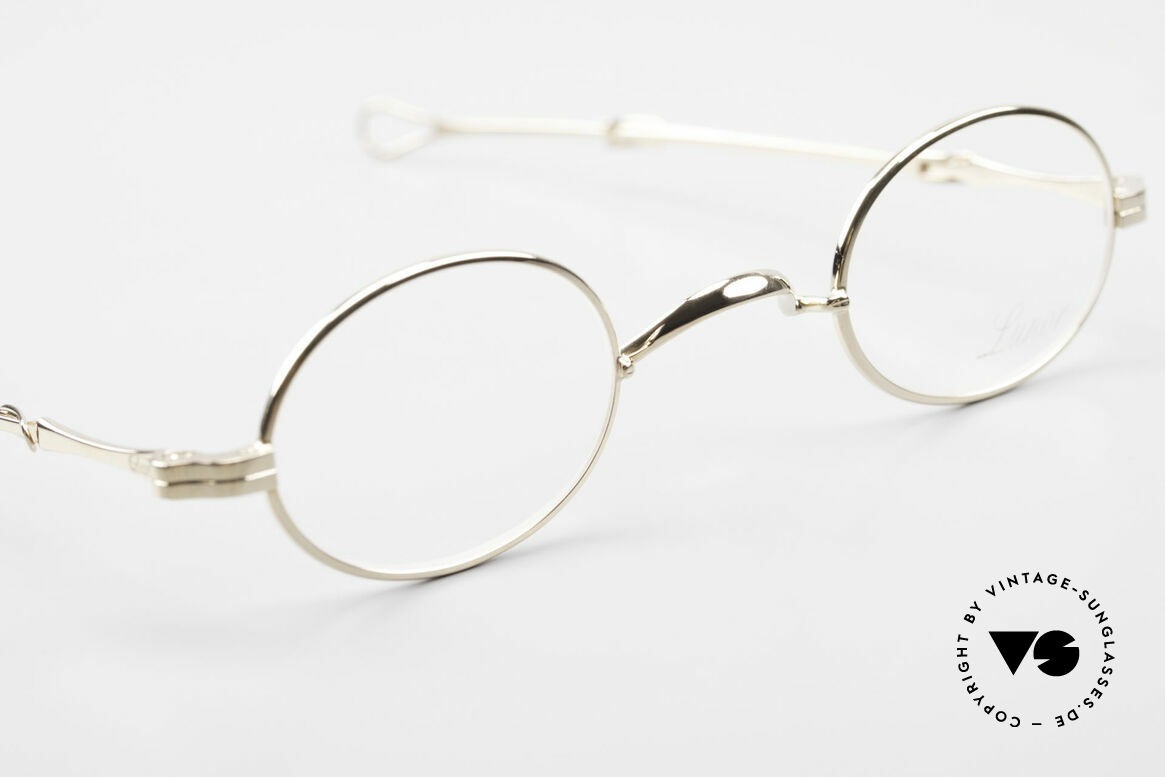 Lunor I 04 Telescopic XS Oval Glasses Slide Temples, the rarity can be glazed with prescription lenses, of course, Made for Men and Women