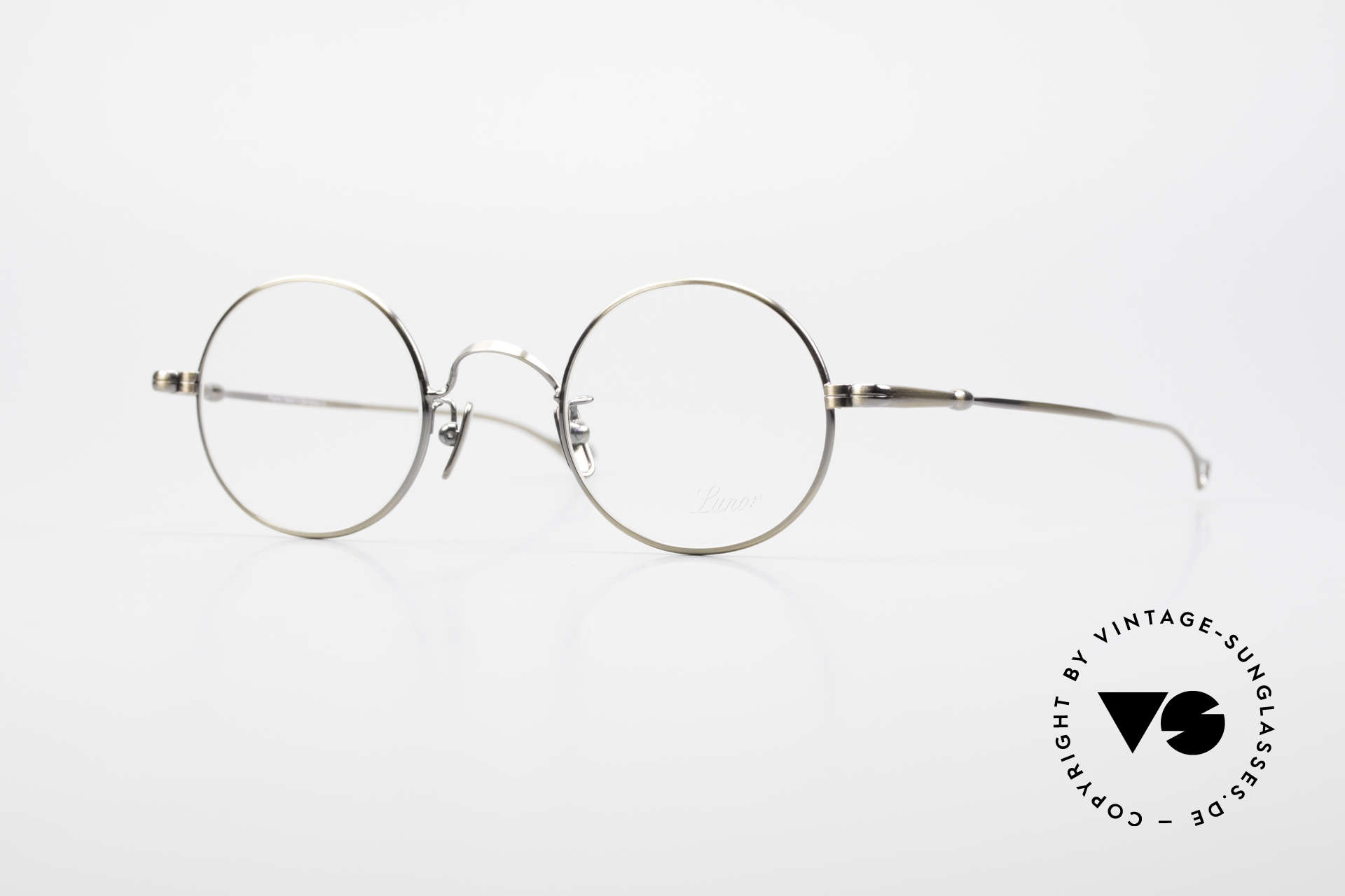 Lunor V 110 Round Lunor Glasses Vintage, round Lunor metal glasses with pads made of pure titan, Made for Men and Women