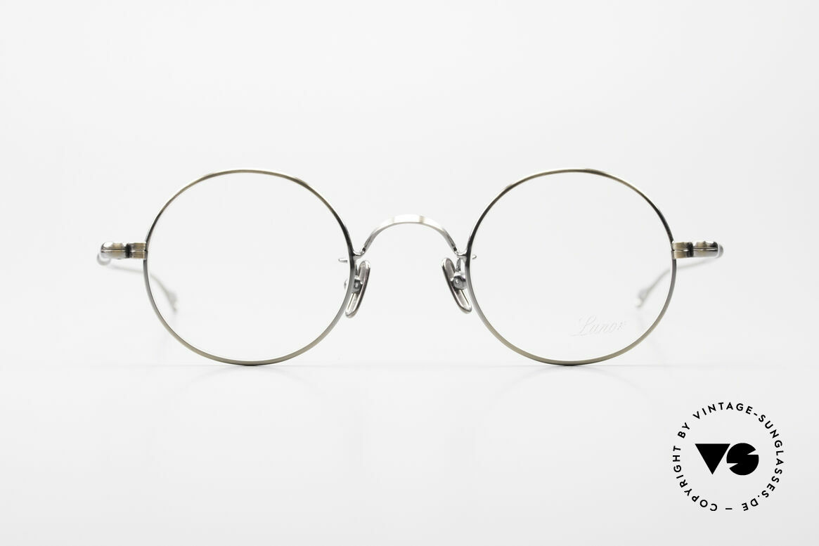 Lunor V 110 Round Lunor Glasses Vintage, LUNOR: honest craftsmanship with attention to details, Made for Men and Women