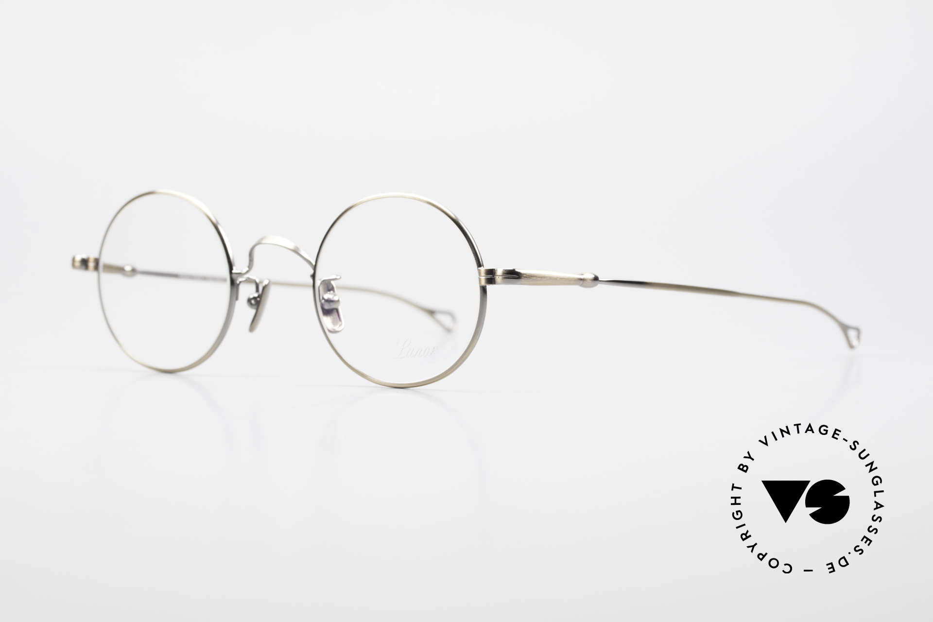 Lunor V 110 Round Lunor Glasses Vintage, without ostentatious logos (but in a timeless elegance), Made for Men and Women